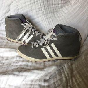 ADIDAS Grey Hightop Sneakers